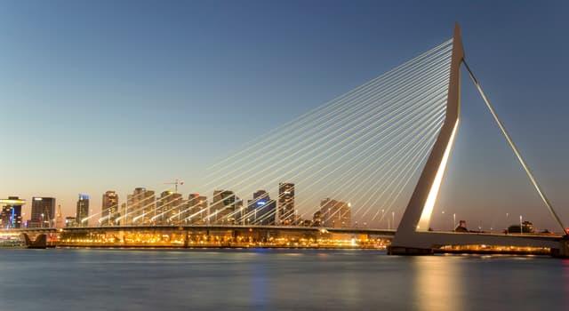 Geographie Wissensfrage: Wo befindet sich die Erasmusbrücke (auf dem Foto)?