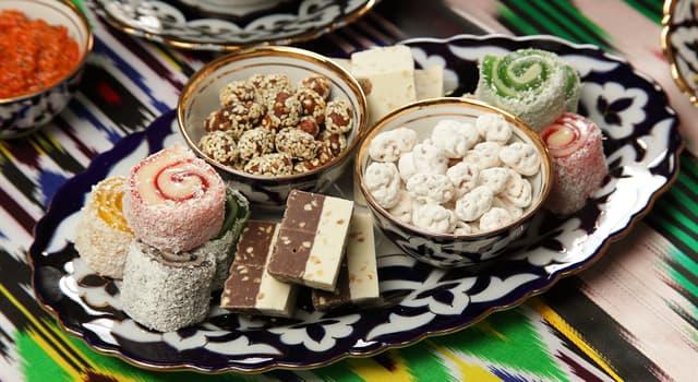 Культура Запитання-цікавинка: Яку східну солодкість виготовляють з розтертих обсмажених ядер горіхів, насіння і т.п.?