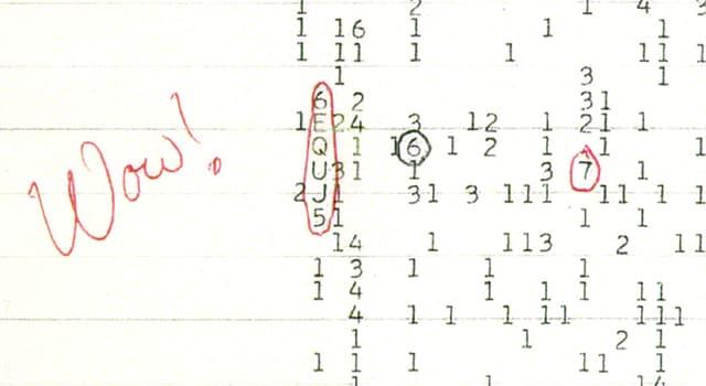 Wissenschaft Wissensfrage: Wann wurde das Wow!-Signal, ein Schmalband-Radiosignal, aufgezeichnet?