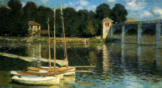 """Kultur Wissensfrage: Welcher französische Künstler malte das Gemälde """"Die Brücke von Argenteuil""""?"""