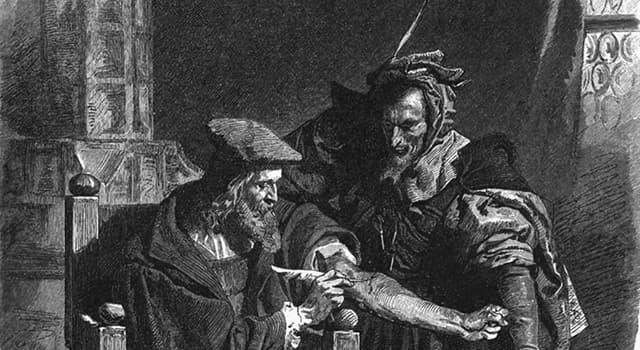 """Kultur Wissensfrage: Wie lautet der Name des historischen Vorbildes von Dr. Heinrich Faust in der Goethes Tragödie """"Faust""""?"""