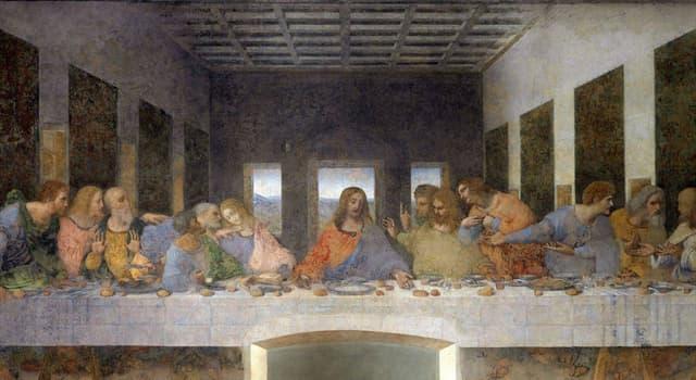Культура Запитання-цікавинка: Хто автор картини (на фото), яка зображує сцену останньої трапези Христа зі своїми учнями?