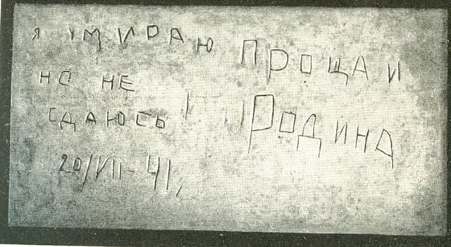 """Історія Запитання-цікавинка: В якій фортеці можна прочитати напис: """"Я вмираю, але не здаюся! Прощавай, Батьківщино""""?"""