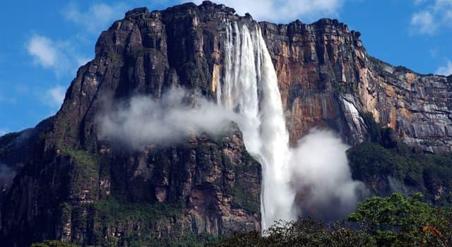 Geografia Pytanie-Ciekawostka: W jakim kraju znajduje się Angel Falls, najwyższy wodospad na świecie?