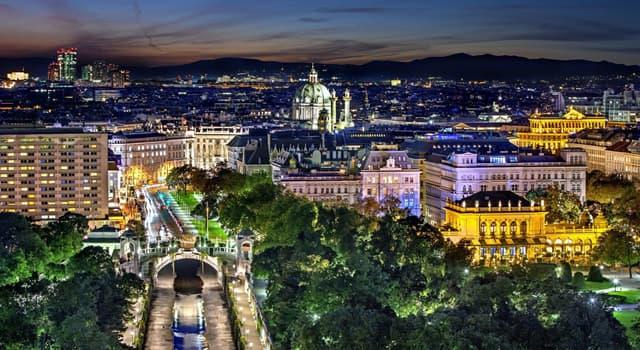 Geographie Wissensfrage: An welchem Fluss liegt die Stadt Wien?