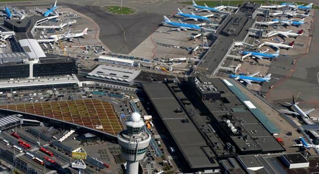Geographie Wissensfrage: In welcher europäischen Stadt befindet sich der Flughafen Schiphol?
