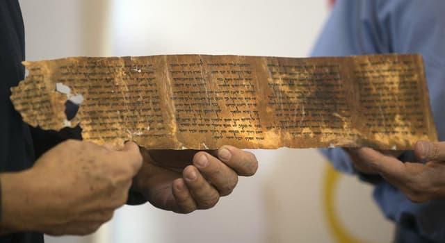 Kultura Pytanie-Ciekawostka: Pod jaką nazwą znane są również Rękopisy z Qumran?