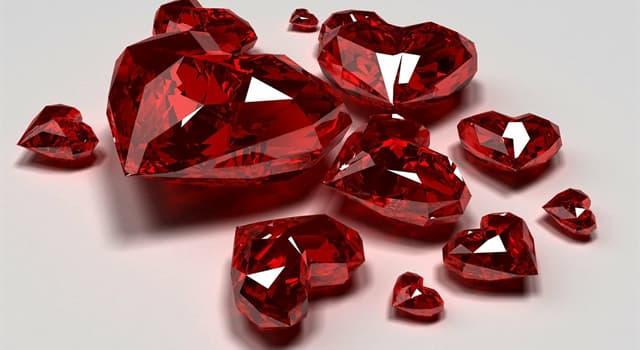 nauka Pytanie-Ciekawostka: Któremu pierwiastkowi chemicznemu rubiny zawdzięczają swoje czerwone zabarwienie?