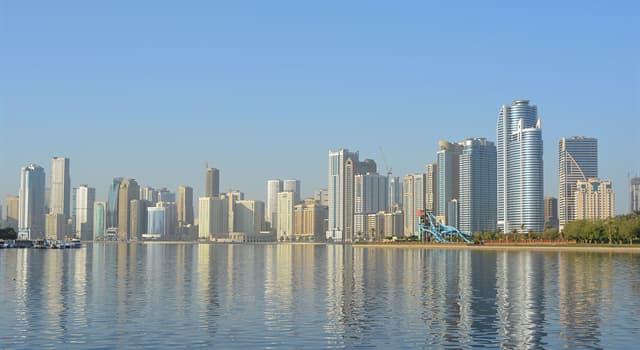 Geografia Pytanie-Ciekawostka: Według obszaru, który jest najmniejszy ze Zjednoczonych Emiratów Arabskich?