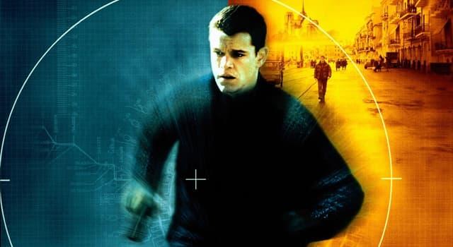 Film & Fernsehen Wissensfrage: Wie lautete der Titel des ersten Films, in dem Matt Damon den Spion Jason Bourne spielte?