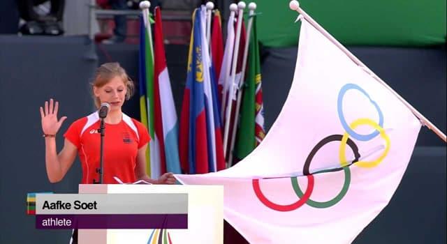 Sport Wissensfrage: Bei welchen Olympischen Spielen wurde erstmals der olympische Eid geschworen?