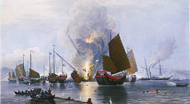 """History Trivia Question: Between which two countries was the """"First Opium War""""?"""