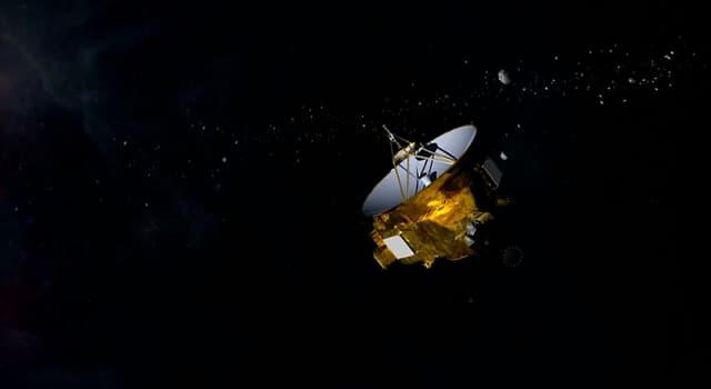 """nauka Pytanie-Ciekawostka: Co było głównym celem sondy kosmicznej agencji NASA o nazwie """"New Horizons""""?"""