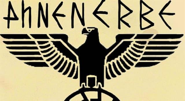 """historia Pytanie-Ciekawostka: Co w czasach nazistowskich Niemiec nazywano """"Ahnenerbe""""?"""