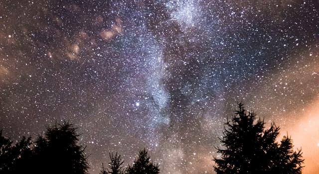 nauka Pytanie-Ciekawostka: Jak nazywa się gromada odległych gwiazd, chmura gazu lub pyłu,które można zobaczyć na nocnym niebie?
