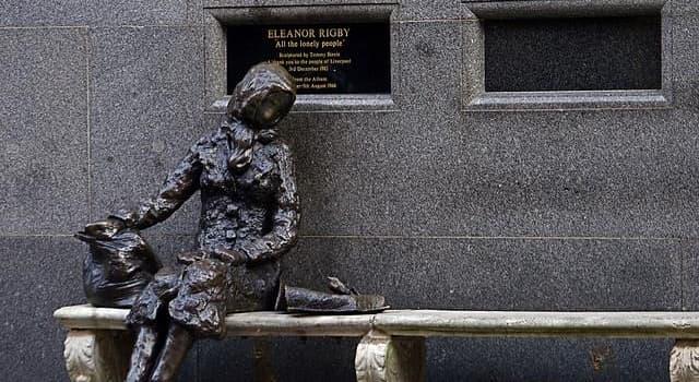 Kultura Pytanie-Ciekawostka: Który słynny brytyjski piosenkarz wyrzeźbił słynny pomnik Eleanor Rigby w Liverpoolu?