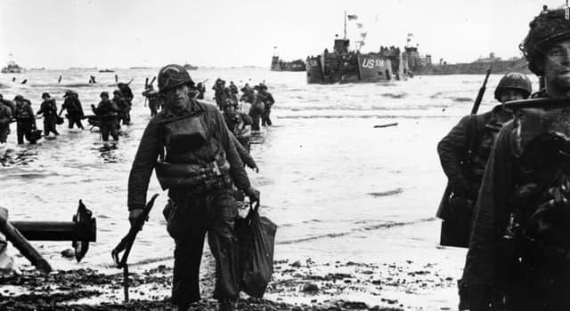 historia Pytanie-Ciekawostka: Na jaki kraj najechano w Dniu D w 1944 roku?