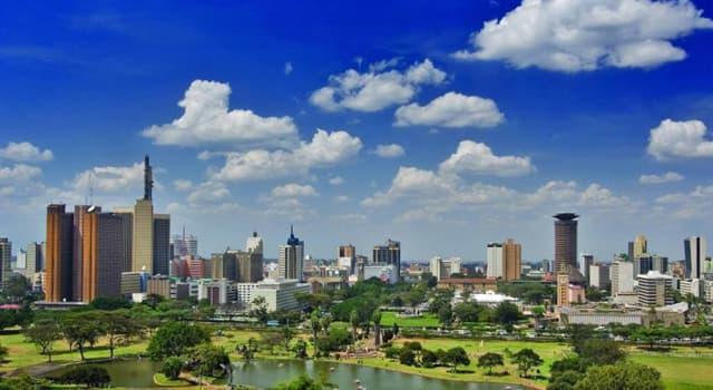 Geografia Pytanie-Ciekawostka: Stolicą jakiego afrykańskiego kraju jest Nairobi?