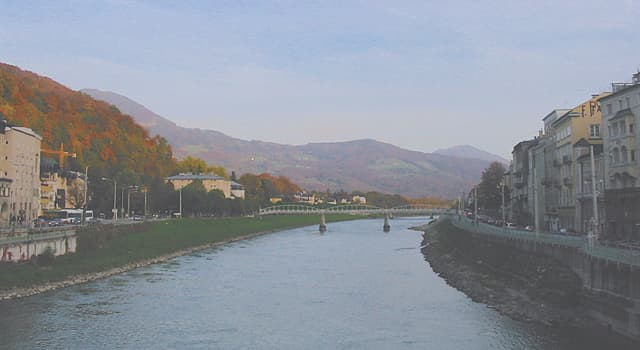 Geography Trivia Question: What is the name of the river that flows through Salzburg?