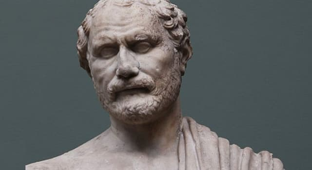History Trivia Question: What prominent Greek orator overcame a speech handicap by putting stones in his mouth?