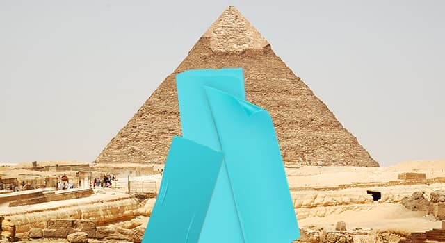 Geography Trivia Question: Which famous Egyptian landmark is hidden in the picture?