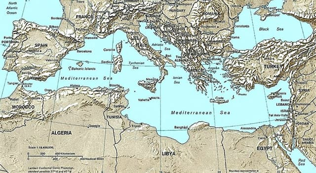 Geography Trivia Question: Which of these is not a Mediterranean country?