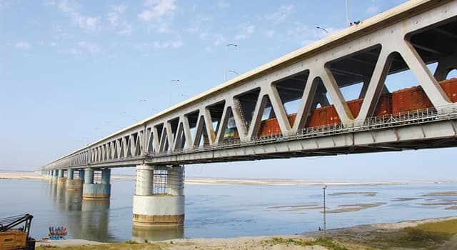 Society Trivia Question: Which is the longest combined road and rail bridge in Europe?