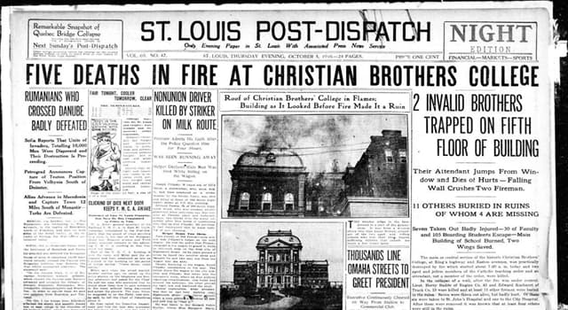 """Culture Trivia Question: Who created the """"St. Louis Post-Dispatch"""" newspaper?"""