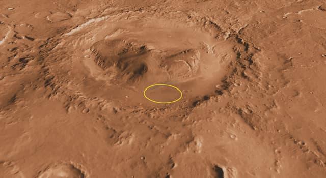 nauka Pytanie-Ciekawostka: Gdzie znajduje się krater Gale?