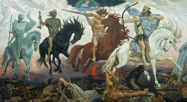 Kultura Pytanie-Ciekawostka: Jakiego koloru jest koń Głodu - jednego z jeźdźców Apokalipsy?