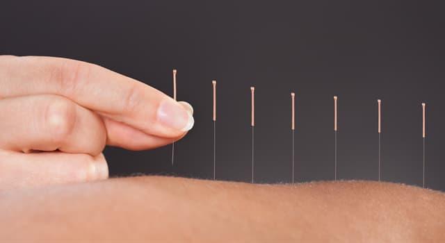 Наука Запитання-цікавинка: Як називають медичне лікування голками?