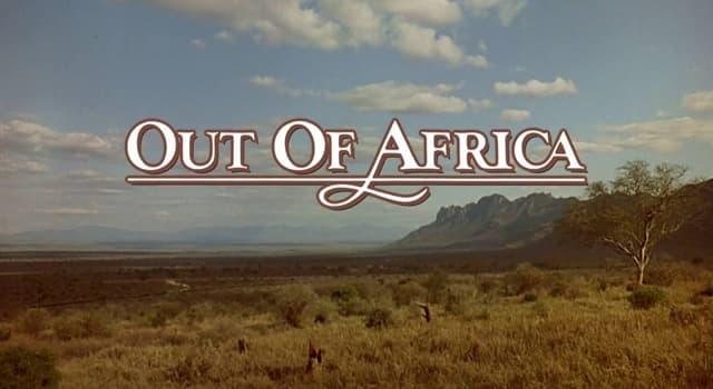 """Фільми та серіали Запитання-цікавинка: Яка актриса зіграла головну роль у фільмі """"З Африки""""?"""