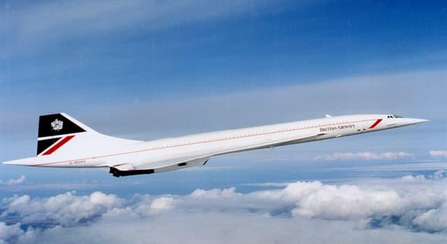 Суспільство Запитання-цікавинка: Яка назва британо-французького надзвукового пасажирського літака?