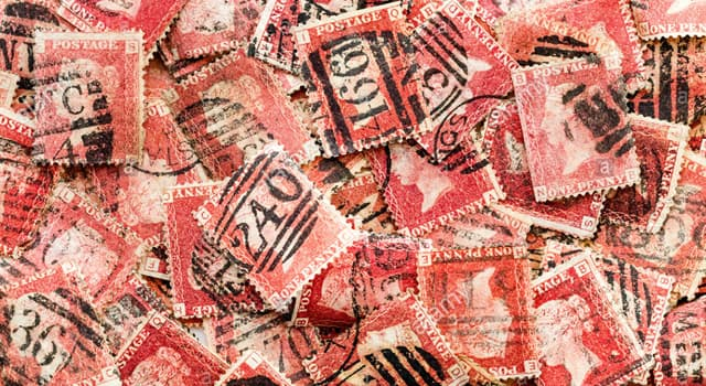 Society Trivia Question: The penny red was the first postage stamp to have what?