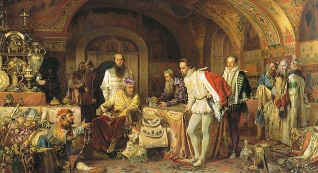 Історія Запитання-цікавинка: В середині XVI століття Російське держава була проголошена царством. А хто став першим царем?