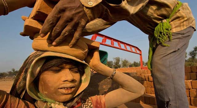Society Trivia Question: What is modern slavery?