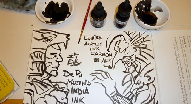 Culture Trivia Question: Where did India ink originally come from?