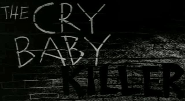"""Movies & TV Trivia Question: Which actor made his debut in the 1958 film """"The Cry Baby Killer""""?"""