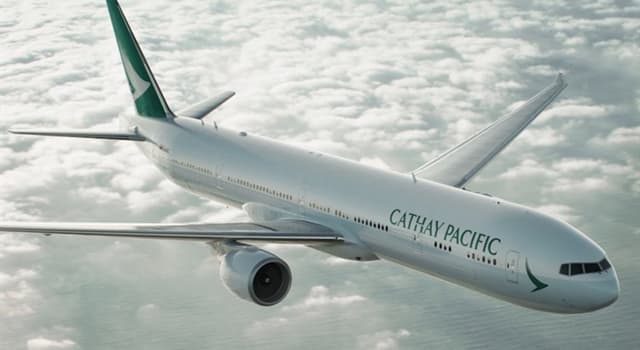 Society Trivia Question: Which city's airport is the home base for Cathay Pacific Airways?