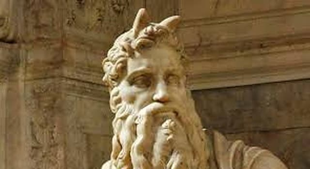 Culture Trivia Question: Why did Michelangelo Buonarroti  depict the biblical figure Moses with horns on his head?