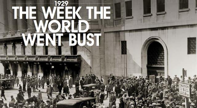 Geschichte Wissensfrage: An welchem Tag begann der Wall Street Crash im Jahr 1929?