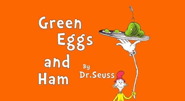 """Kultur Wissensfrage: Aus wieviel Wörtern besteht der Text des Buches von Dr. Seuss """"Grünes Ei mit Speck: das Allerbeste""""?"""