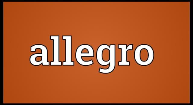 """Культура Запитання-цікавинка: Що означає термін """"Алегро"""" в музиці?"""