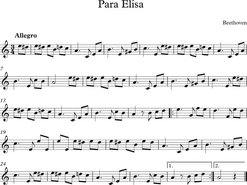 """Cultura Pregunta Trivia: ¿Cómo se denomina el género musical al que corresponde la obra de Beethoven """"Para Elisa"""" (Für Elise)?"""