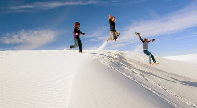 Geografia Pytanie-Ciekawostka: Gdzie znajduje się piaszczysta biała pustynia White Sands?