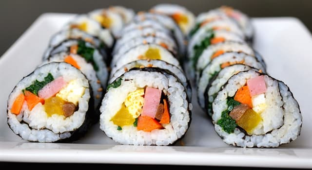 Culture Trivia Question: Gimbap is a popular take-out food from which country?