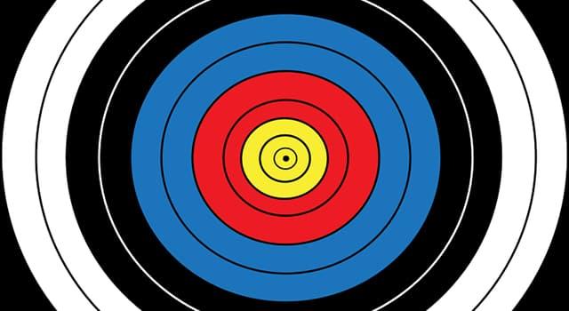 sport Pytanie-Ciekawostka: Ile punktów wart jest zewnętrzny biały pierścień olimpijskiego celu łuczniczego?