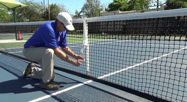 sport Pytanie-Ciekawostka: Ile wynosi wysokość siatki na korcie tenisowym na samym środku?