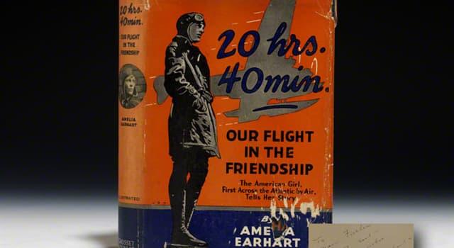 History Trivia Question: Where did Amelia Earhart's plane land on her accompanied 1928 flight across the Atlantic Ocean?