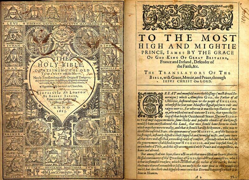 Kultura Pytanie-Ciekawostka: W Biblii Nowego Testamentu Króla Jakuba wszystkie książki z wyjątkiem trzech kończą się słowem.
